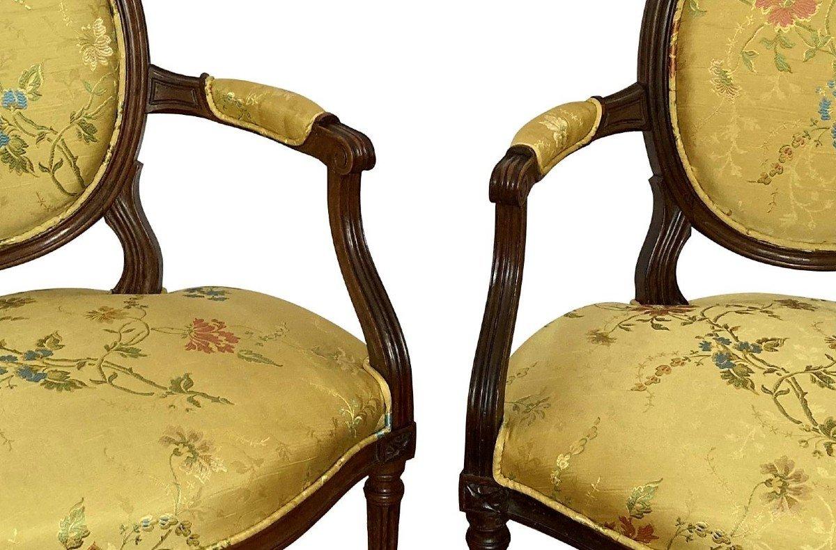 Paire De Fauteuils Epoque Louis XVI-photo-3