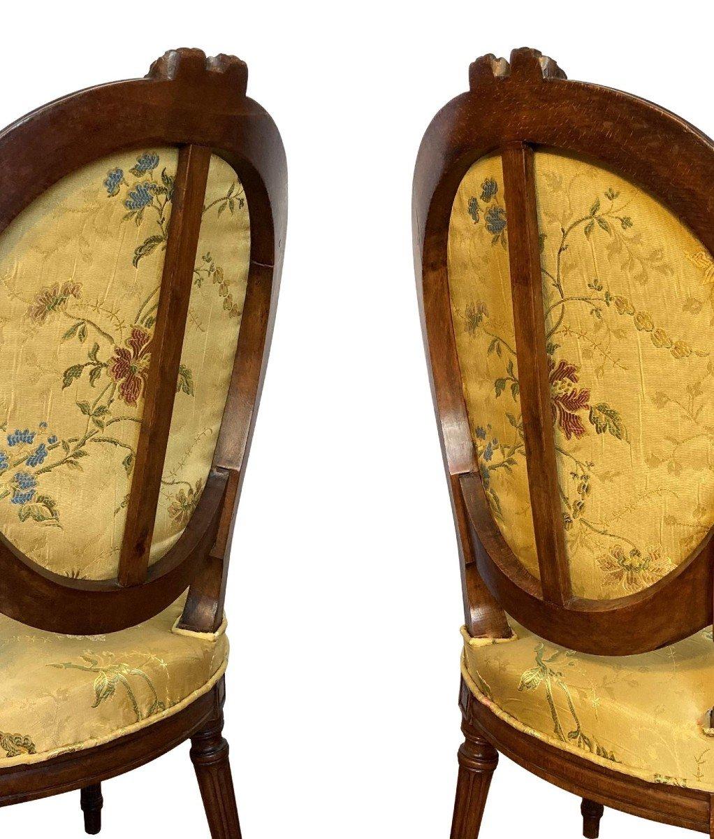 Paire De Fauteuils Epoque Louis XVI-photo-4