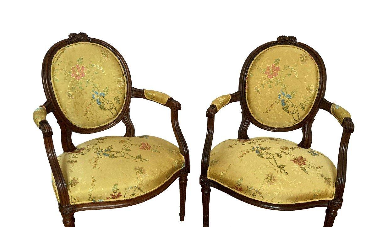 Paire De Fauteuils Epoque Louis XVI-photo-6