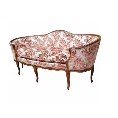 Sofa Stamped Meunier Louis XV Period