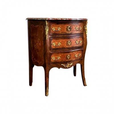 Petite Commode De Style Louis XV du XIXe Siècle