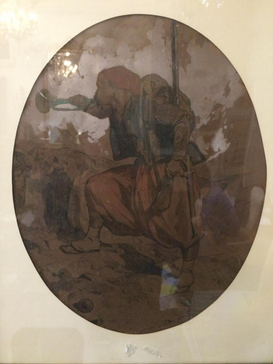 Jules Didier, Watercolor Dated 1856