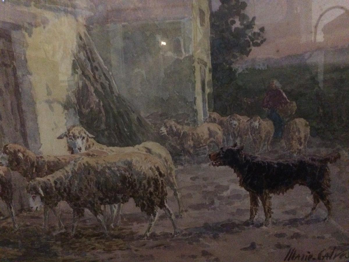 La Bergerie, Aquarelle De Marie - Didière Calvès