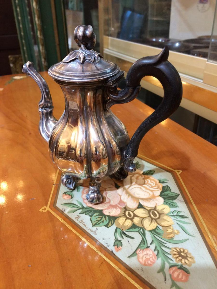 Egoist Coffee Pot In Sterling Silver Signed Debain