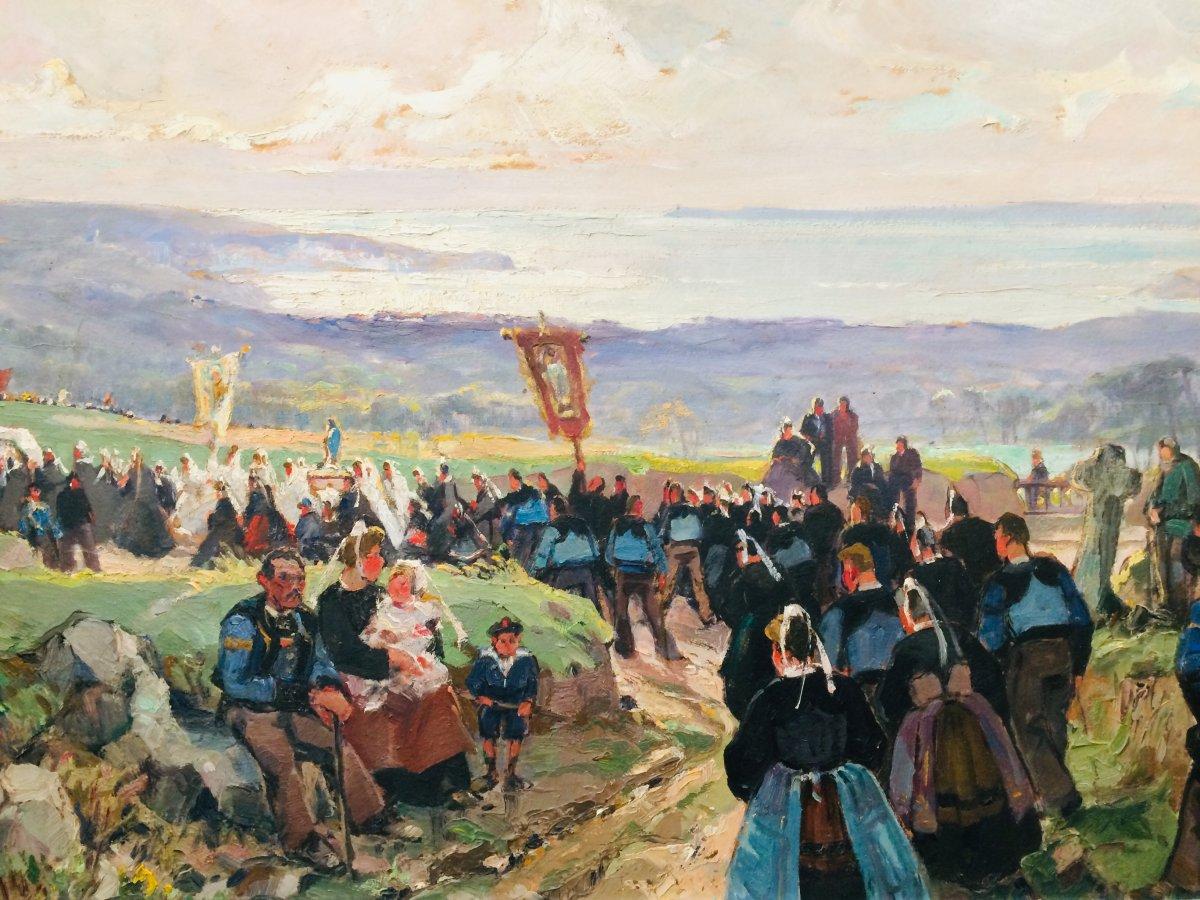 Pardon In Brittany: The Great Troménie De Locronan And Baie De Douardenez By E.marcel-laurent (1892-1948)