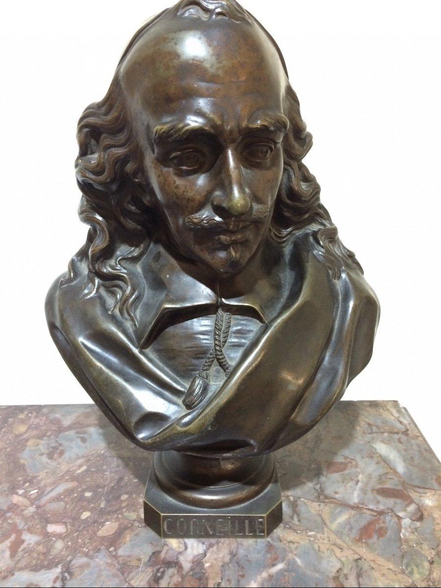 Corneille, Statue En Bronze De Désiré Marie-photo-1