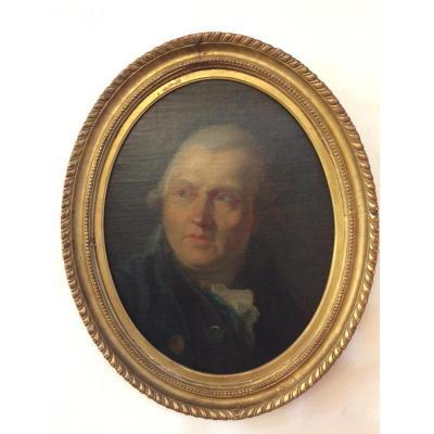 Peinture,portrait D'homme De Qualité De La Deuxième Partie Du 18 ème Siècle.