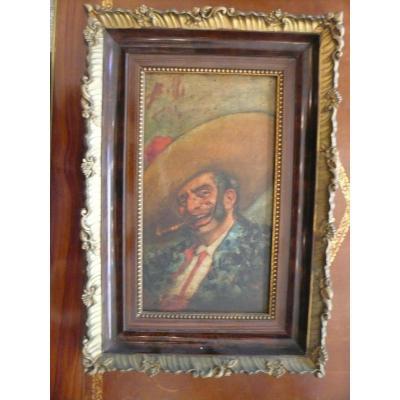 """""""portrait d'Espagnol au Cigare"""" Par Enrico Belli (19 ème)"""