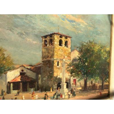 La Cathédrale Saint Just à Trieste Par Fernando Noulian (1891-1984)