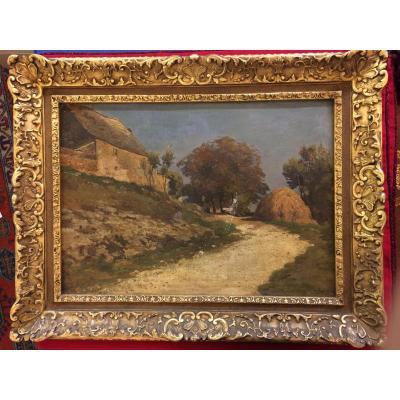 Louis Alexandre Cabié»une Vieille Grange «huile /toile De 1914