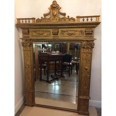 Large Golden Mirror Napoleon III