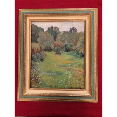 """Daniel Octobre, Impressionist Painting From """"bocage De Loire à Vouvray"""""""