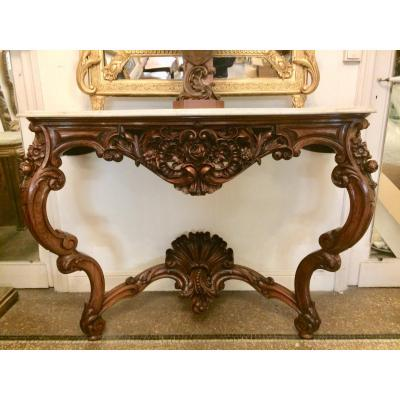 Large Louis XV Console In Rosewood