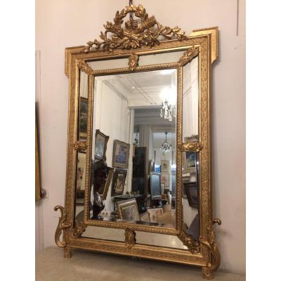 Miroir Doré à Pare-close De Style Louis XVI