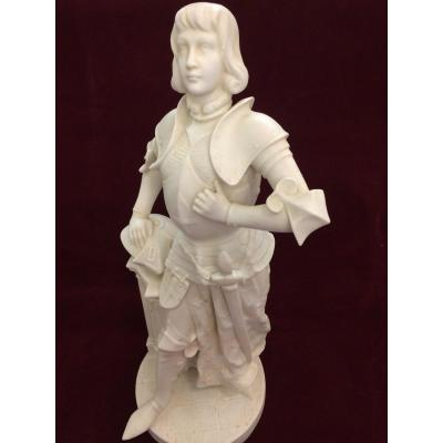 Joan Of Arc , Biscuit Realized By The French Sculptor Alfred Charron
