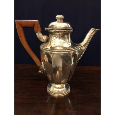 Sterling Silver Coffee Maker, Minerva Hallmark, XIXth Century