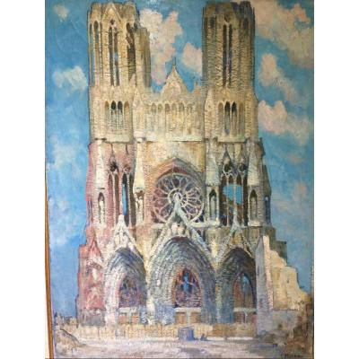 Reims Cathedral, By Gustave René Pierre