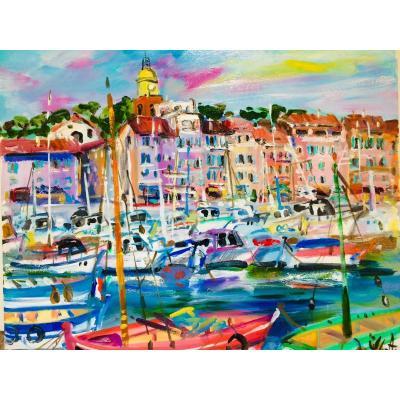 Yvon Grac: The Port Of Saint-tropez