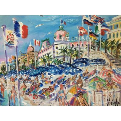 Nice, The Promenade Des Anglais And The Hotel Négresco By Yvon Grac