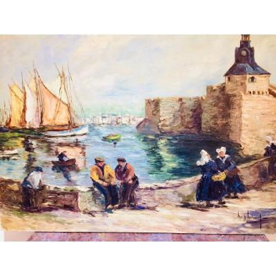 The Port Of Concarneau In Brittany: Return Of The Fishermen
