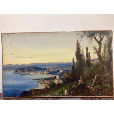Jules Defer: Panoramic View Of Nice, The Port Of Nice And The Baie Des Anges, From Mont Boron