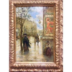 Vincenzo Migliaro. (naples 1858-1938). Boulevard Scene