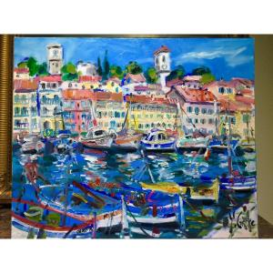 Yvon Grac: The Old Port Of Cannes And Its Pointus