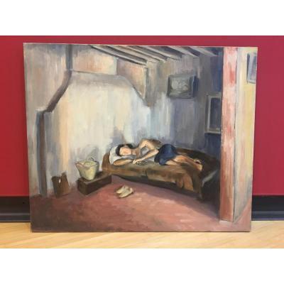 Alice Kohn (1902-1990)- Femme Endormie