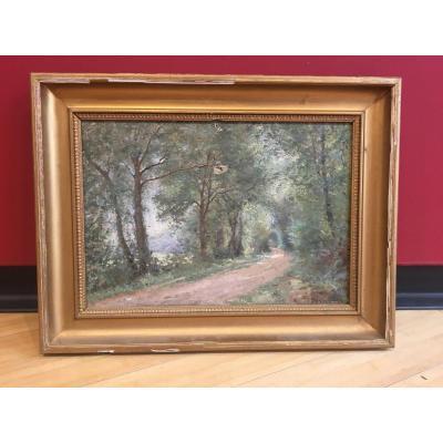 Jean Baptiste Guillemet (1843-1918) - Chemin En Forêt