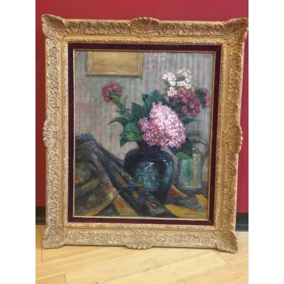 Victor Charreton (1864-1936) Bouquet d'Hortensias