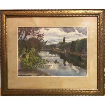 "René Besson (1904-?) ""paysage"""