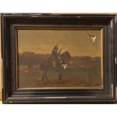 """Georges Hyon (1855-?) """"le Cuirassier"""""""
