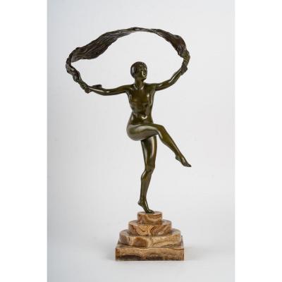 Bronze Art Deco Signé Guiraud Rivière