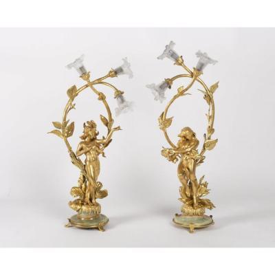 Art Nouveau Lamps