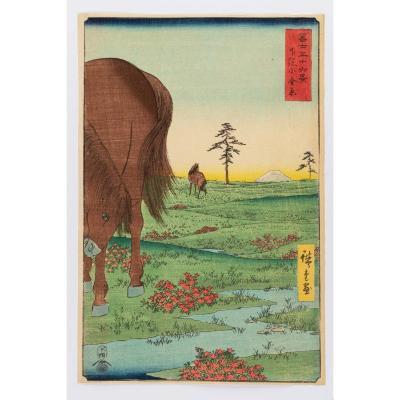 Hiroshige Ando - Plaine De Kogane Dans La Province De Shimōsa
