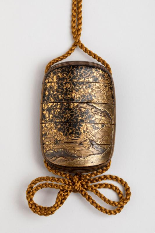 Five-case Japanese Gold Urushi Lacquer Inro, Japan Edo Fin 17th-early 18th-photo-2