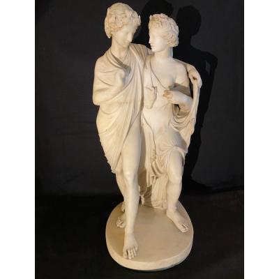Marble Sculpture Representing Bacchus And Ariadne