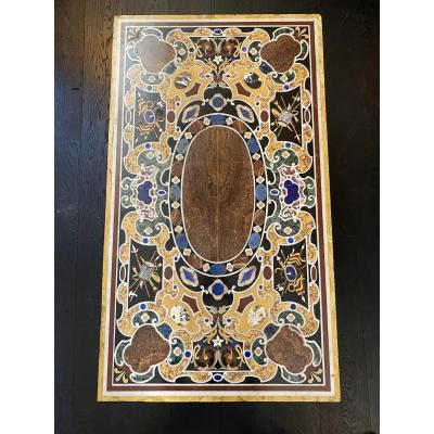 Marble And Hard Stones Marquetry Tray