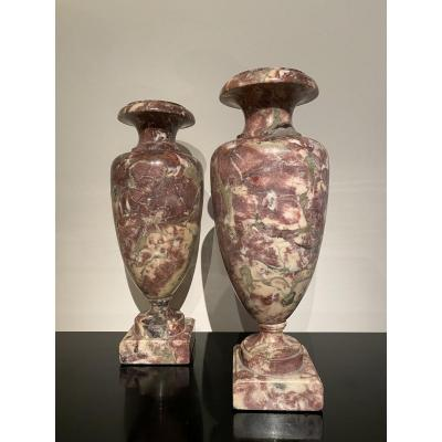 Pair Of Marble Vases