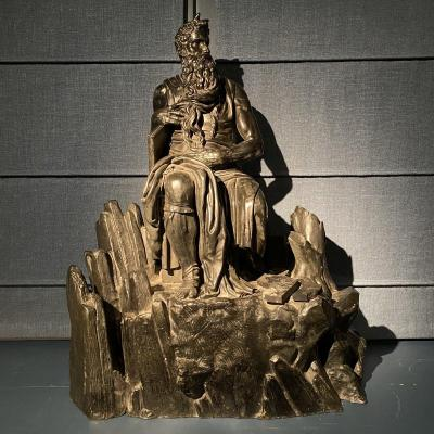 Bronze Moses After Michelangelo