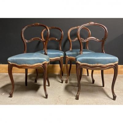 Série De 4 Chaises Napoléon III XIXeme