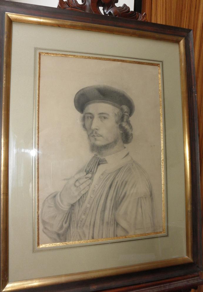 Cheneau, Autoportrait De l'Artiste 1858, Mine De Plomb