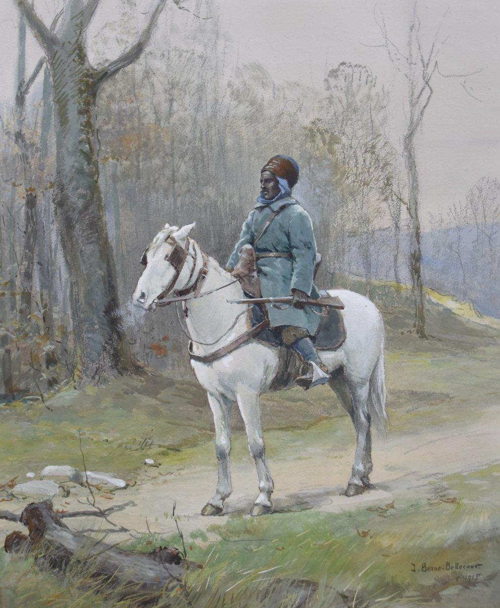 Jean Jacques Berne-Bellecour (1874-1939), Cavalier d'Afrique du Nord, 1915,