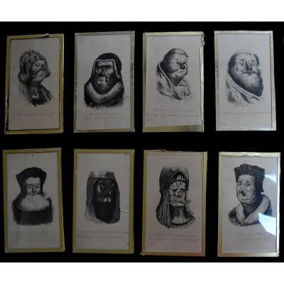 Entourage De Gustave Doré, Illustrations Pour Les Contes Drolatiques, 8 Dessins à l'Encre