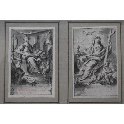 Hubert-françois Gravelot (1699-1773) Two Allegories