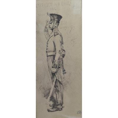 Edouard Detaille (1848 1912), Un Soldat Au Garde-à-vous, 1879