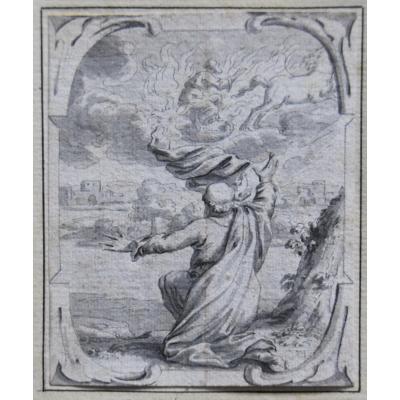 Joachim Von Sandrart (1606-1688) Épisodes Bibliques, 3 Dessins Originaux