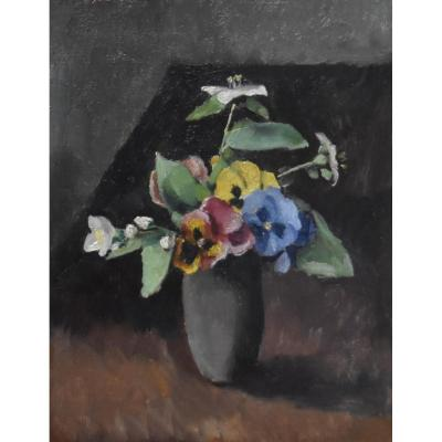 Maurice Asselin (1882-1947) A Bouquet Of Flowers In A Vase, 1942, Oil On Canvas