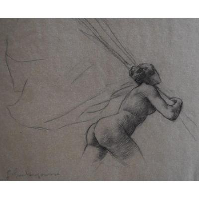 Georges Antoine Rochegrosse (1859-1938) Study For The Trophies, Drawing