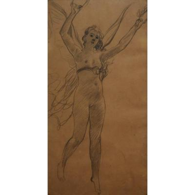 Henri-lucien Doucet (1856-1895) An Allegory, Drawing